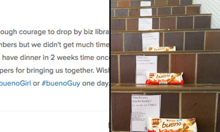 Guy finally asks girl out after his note gets smudged in the rain