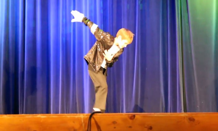 Is this nine-year old going to be the next Michael Jackson?
