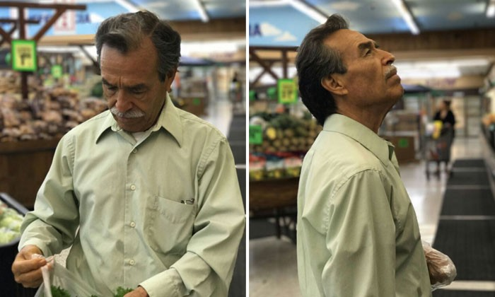Dad made dashing with iPhone 7: Shopping in supermarket turns into photoshoot