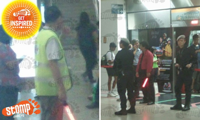 Police and staff did a good job supervising Bishan train station