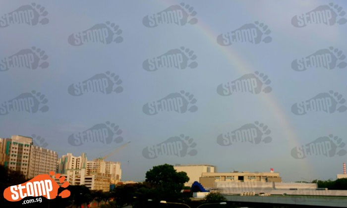 Vibrant rainbow shines at Woodlands