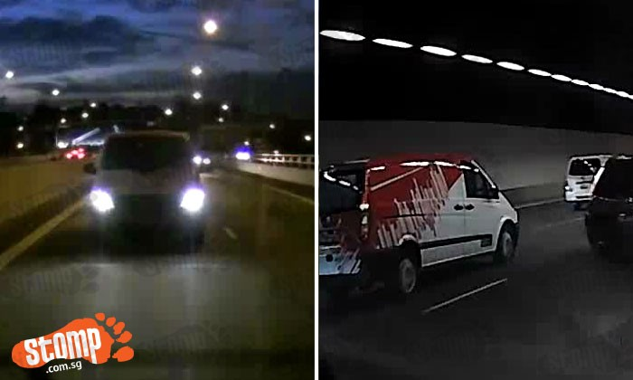 Van drivers race on MCE and almost cause multiple collisions