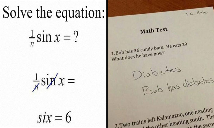 Don't know how to answer exam questions? Get some ideas from these kids