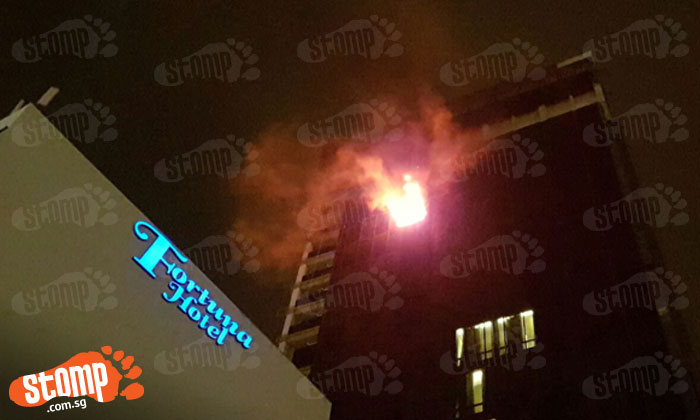 Fire breaks out at high-rise building in Farrer Park