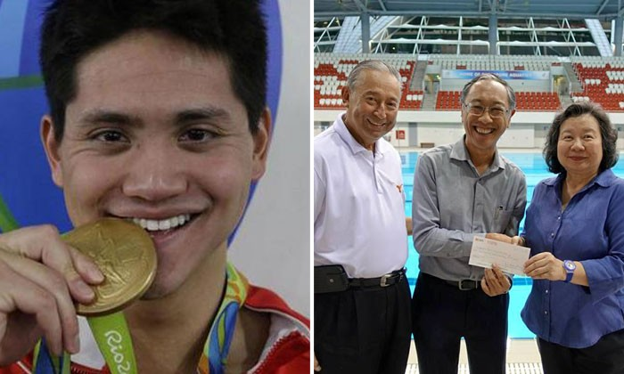 Joseph Schooling and his parents donate $200,000 to Singapore Swimming Association