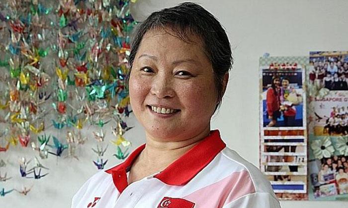 National rhythmic gymnastics coach Zhu Xiaoping. ST FILE PHOTO