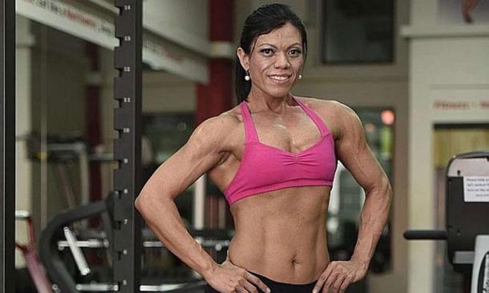 Ms Liz enjoys the adrenaline rush after every workout session. ST PHOTO: NIVASH JOYVIN