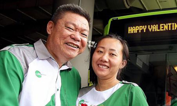 Mr Goh Jeok Teng and his wife Chen Haihong. Photos:TNP