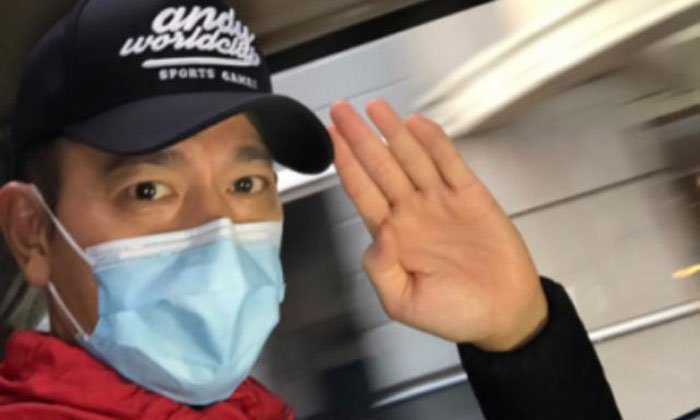 Andy Lau posted this photo with a Mar 10 blog entry announcing that he had been discharged. Photo: awc618.com