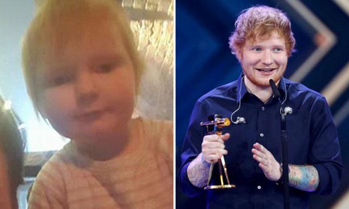 (Left) Isla Walton and (Right) Ed Sheeran
