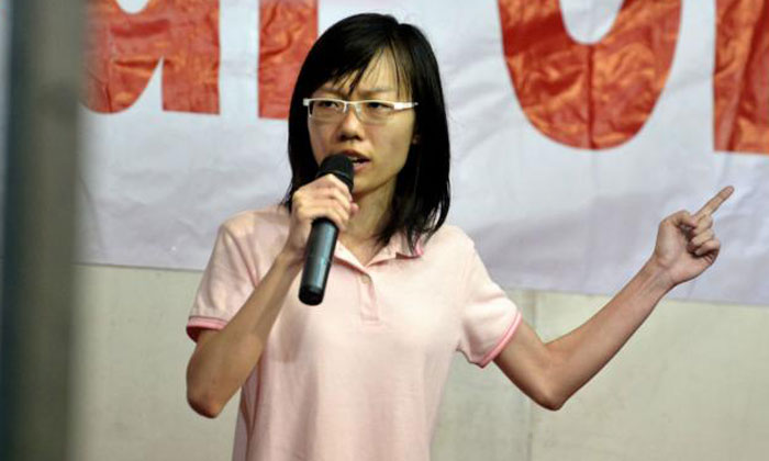 Blogger Han Hui Hui at her first election rally in September 2015. Photo: ST, AsiaOne