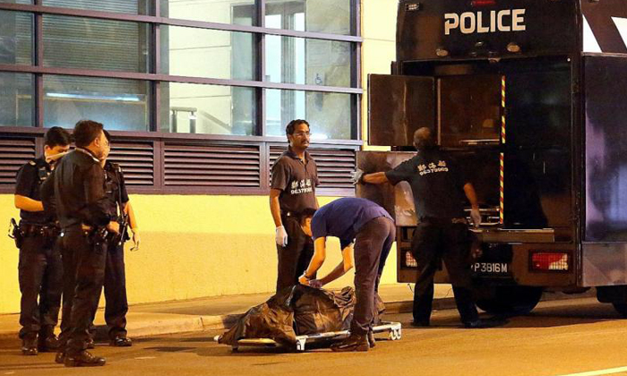 Police said the man who was found dead on the tracks of Fajar LRT station had been run over. PHOTO: SHIN MIN DAILY NEWS
