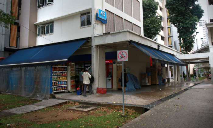 The block in Cambridge Road where the incident happened.PHOTO: NIVASH JOYVIN FOR THE STRAITS TIMES