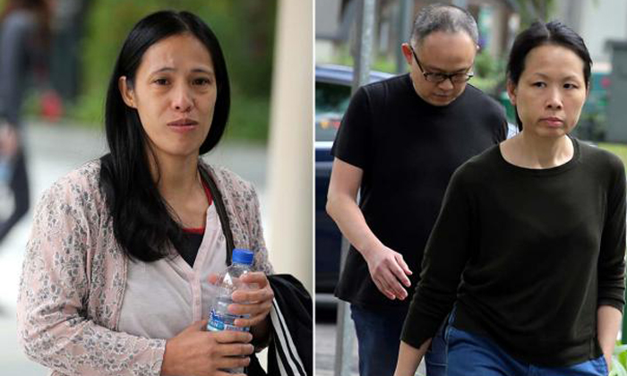 Flipino domestic worker Thelma Oyasan Gawidan's health suffered when she was given only plain bread and instant noodles by Madam Chong Sui Fon, and her husband Lim Choon Hon. Photo: The Straits Times