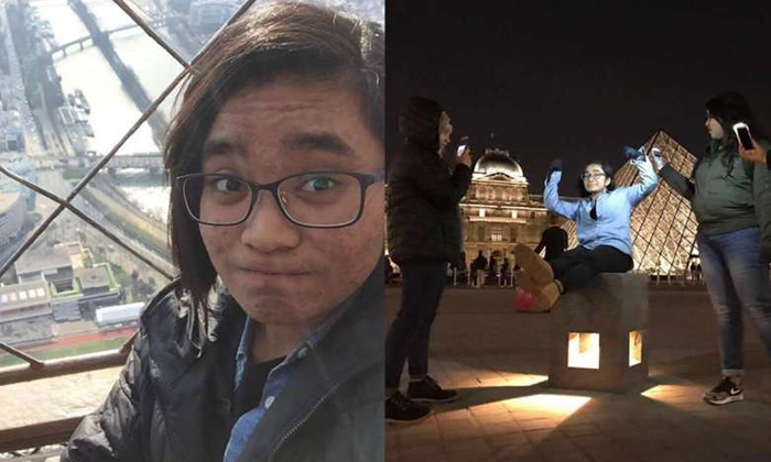 Ms Nuruljannah Mohammad Razib in pictures taken from her Europe trip. She was in Stockholm with four other friends, nursing diploma graduates from Ngee Ann Polytechnic, when the truck attack occurred on Friday. PHOTO: COURTESY OF MOHAMMAD RAZIB