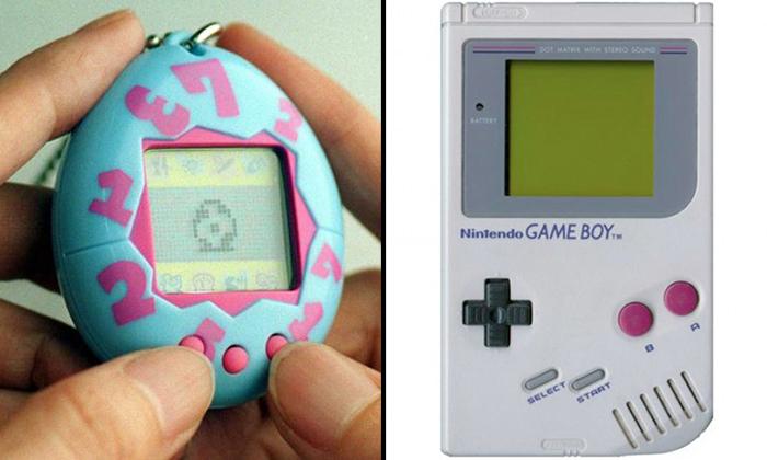 Left: Tamagotchi. Photo: The Straits Times. Right: Gameboy. Photo: Nintendo.