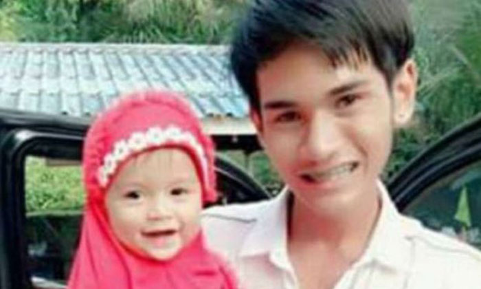Wuttisan Wongtalay with his daughter.