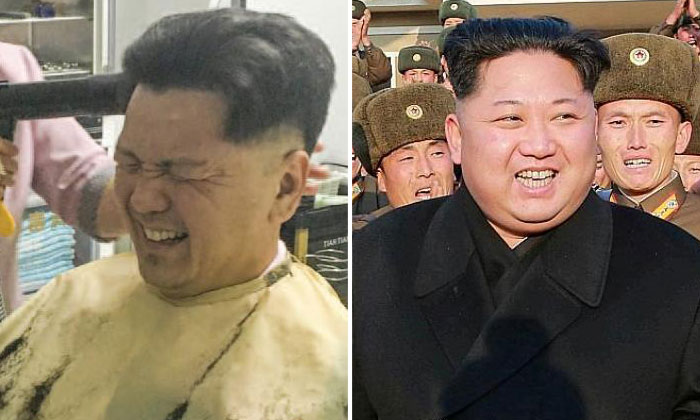 S M Ong (left) and Kim Jong Un (right).