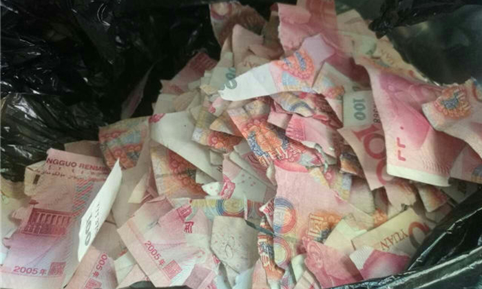 5 year old boy in China finds 50 000 yuan at home    and rips it all to  shreds. 5 year old boy in China finds 50 000 yuan at home    and rips it