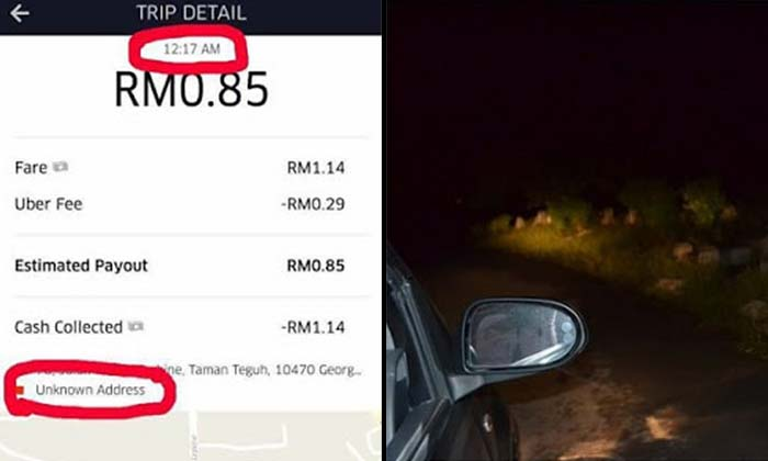 Uber driver accepts ride request, ends up in Penang cemetery