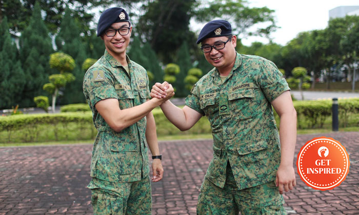Meet the soldiers, 2LT Tan (left) and LCP Chung (right). PHOTOS: The Singapore Army