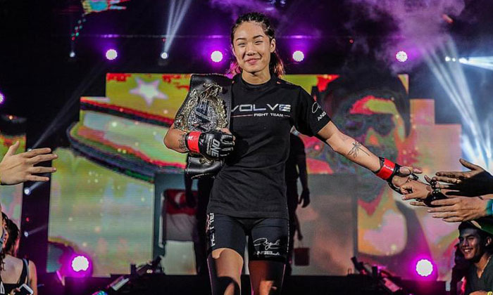 Angela Lee will defend her title against Japanese fighter Mei Yamaguchi at the ONE Championship: Immortal Pursuit event on Nov 24. PHOTO:ONE CHAMPIONSHIP