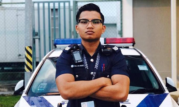 Faiz Bin Salim, a police NSman, died after an accident along the SLE on Sep 10. Photo: Facebook
