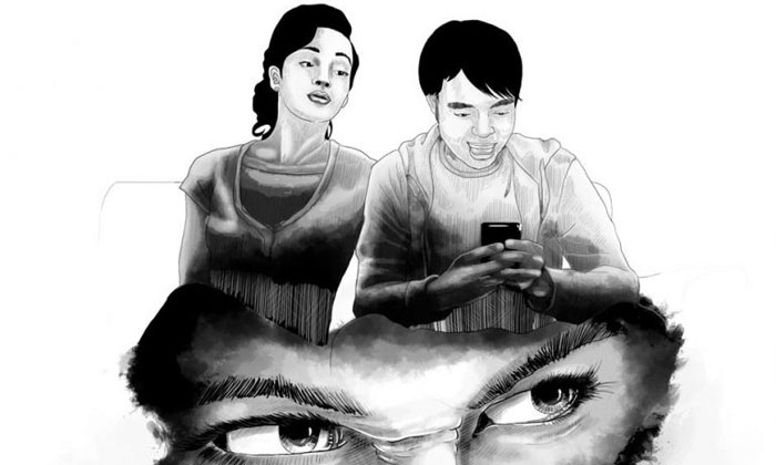 Can a woman trust her boyfriend if he keeps texting other women? Photo illustration: The Star
