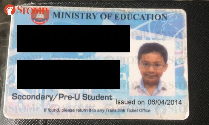 student EZ-Link card found in wallet