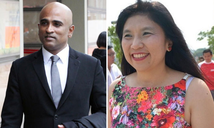 M. Ravi (left) and Jeannette Chong-Aruldoss (right). PHOTOS: ST FILE