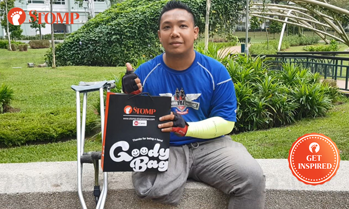 34-year-old Saire Adnan was presented with a Stomp Goody Bag for inspiring others