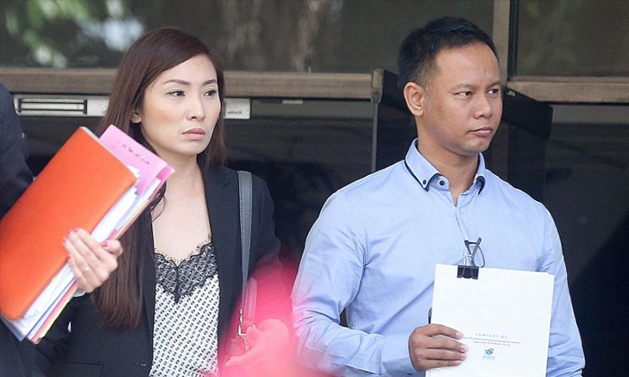 Linda Seah Lei Sie (left) faces six charges while her husband Lim Toon Heng (right) faces one assault charge ST PHOTO: ONG WEE JIN