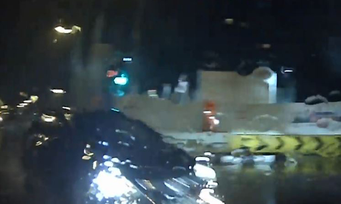 Black Honda rams into driver after beating the red light. (PHOTO: ROADS.SG)