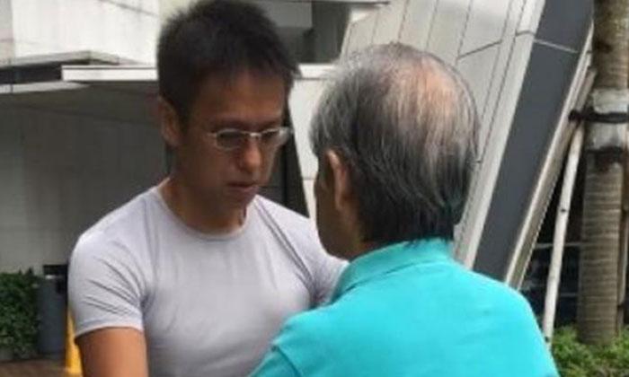Mr Wang Di Cong said that Madam Xu's condition has improved since the 'qigong' sessions. Photo: Lianhe Wanbao