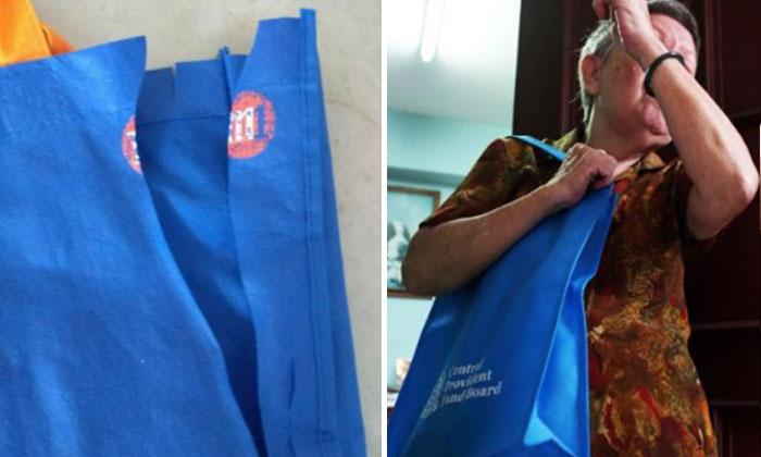Madam Fan said that her bag had been slit open, and her belongings were taken. PHOTO: LIANHE WANBAO