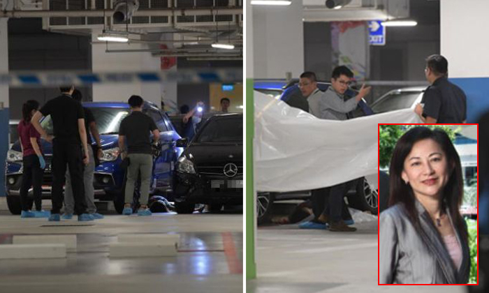 Ms Low Hwee Geok (inset) was found dead in the campus carpark of ITE College Central on July 19. Photos: The Straits Times, ITE website