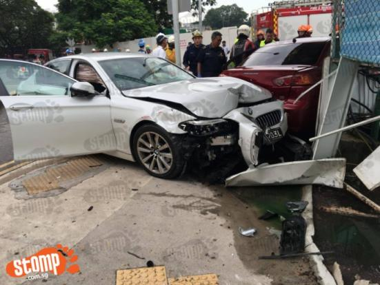 M  Accident Involving  Cars Yesterday