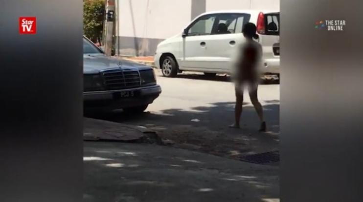 nude in public area