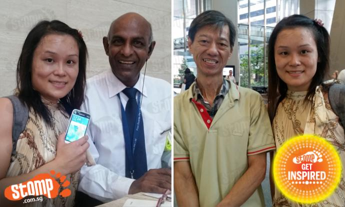 Left: Christina with Mr Siva. Right: Christina with Mr Tan.