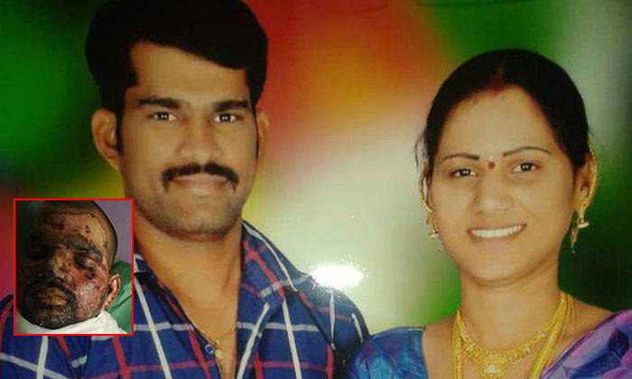 M. Swathi (right) allegedly murdered her husband Sudhakar Reddy (left), and disfigured her lover Rajesh to pass him off as her dead husband.