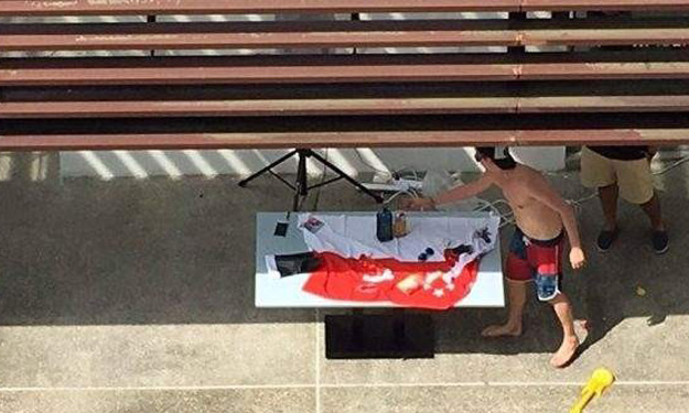 Junior Israeli diplomat is responsible for using S'pore flag as tablecloth at party