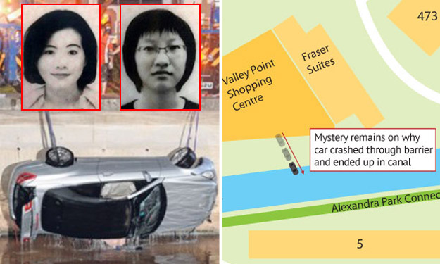 Mystery remains after woman and daughter die in Alexandra Canal accident: Witnesses saw vehicle exit mall carpark and crash through barrier