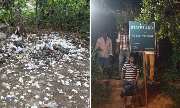 Residents worried about Woodlands jungle brothel: Hundreds of condoms and wrappers litter the ground