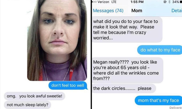 Daughter sends selfie with Snapchat filter -- and mum completely freaks out