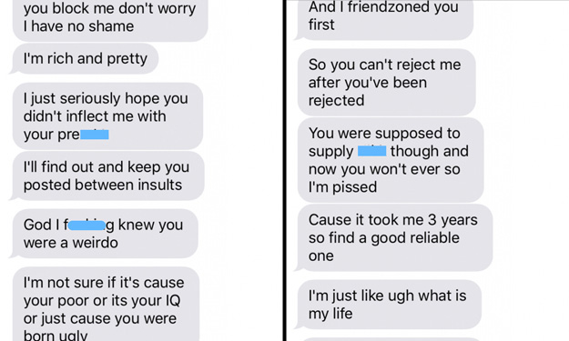 Angry ex-GF goes on the most insane text rant ever