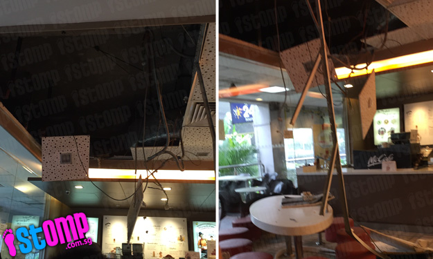 Ceiling collapses after heavy rain at Farrer Rd McDonald's