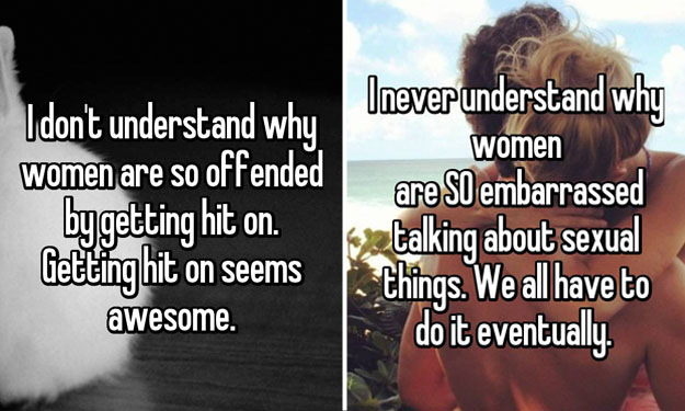 16 men share things they will NEVER understand about women