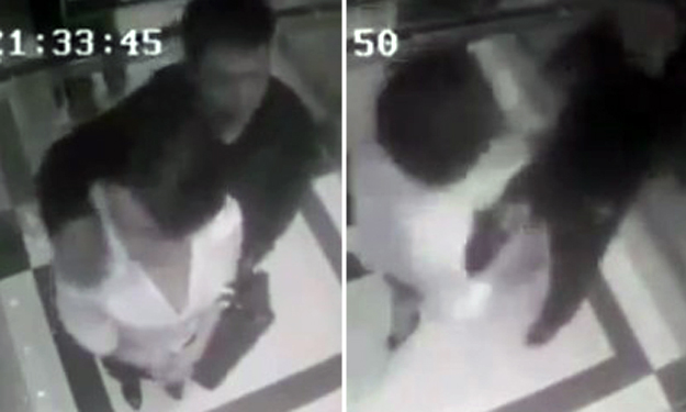 See how woman lays the smackdown on pervert who tries to grope her in lift in China