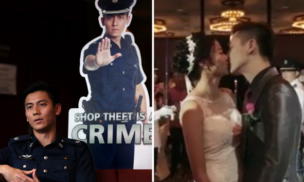 Watch 'yandao' policeman's wedding video: His pretty wife is from SPF too