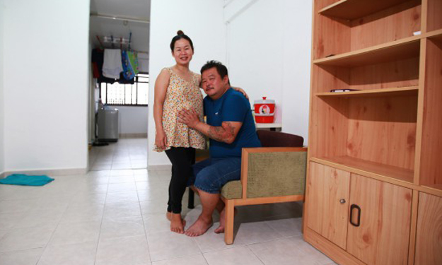 More than 100 people offer to help couple who moved from lorry to rental flat